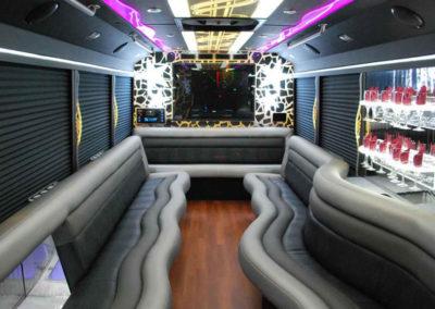 White Ford E450 Limo Bus