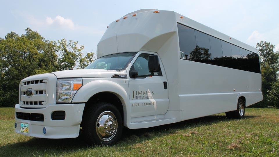 White Ford 550 Limousine Bus #14