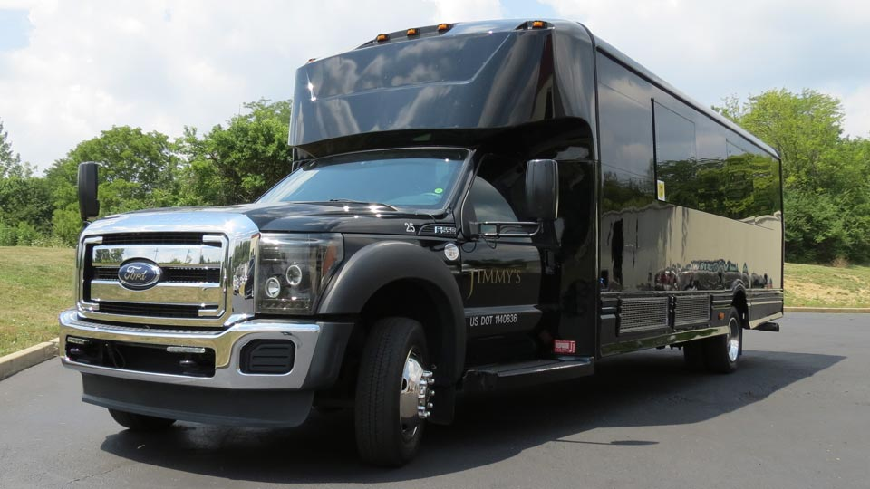Black Ford 550 Party Bus