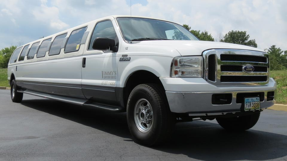 White Ford Excursion Limo