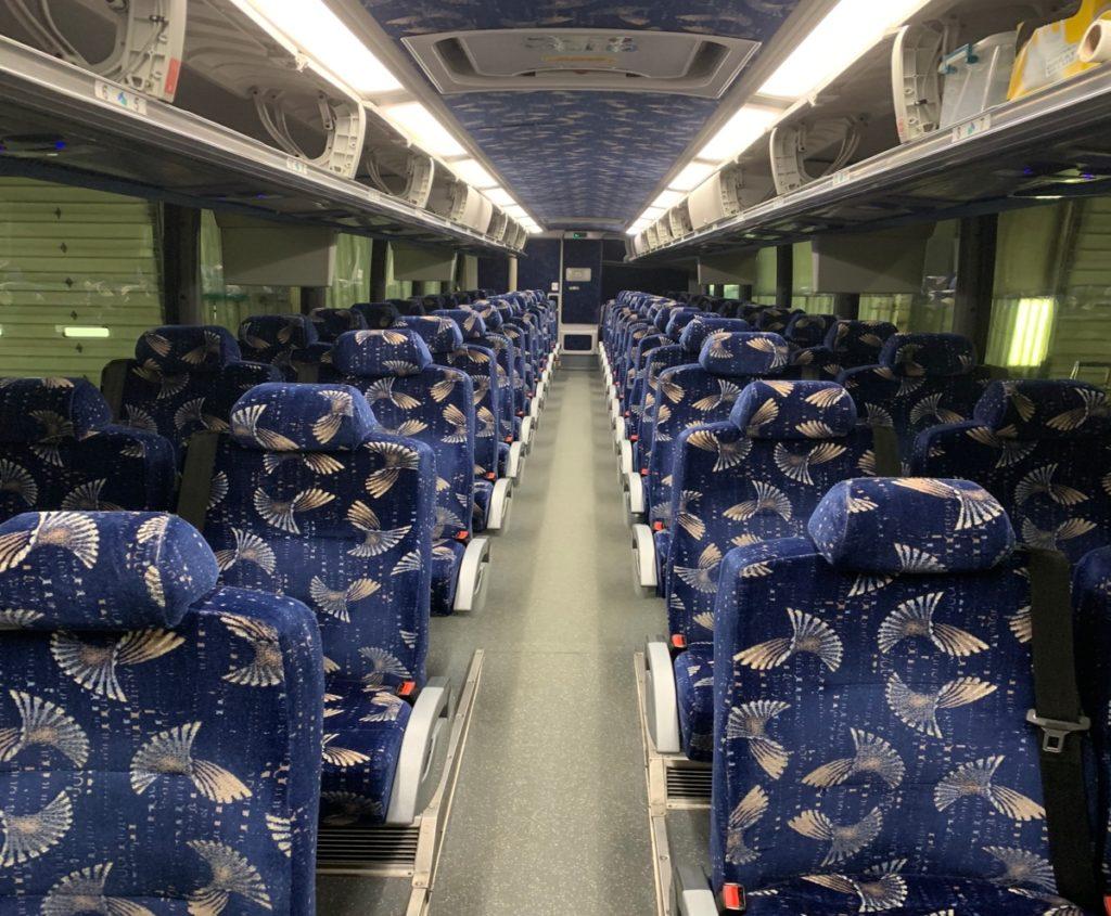 Jimmy's Limousine Service 54 passenger Motor Coach Interior